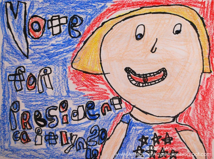 Adventures of an Art Teacher: 1st Grade Presidential Posters