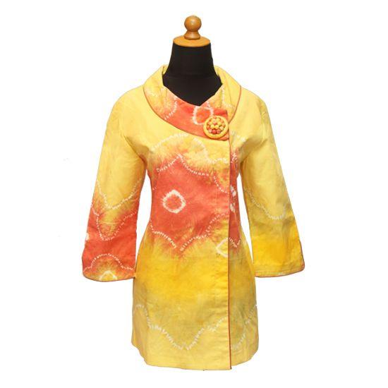 Blouse Jumputan Palembang (Kuning) | Bahan: Jumputan Palembang | Harga: Rp 575.000