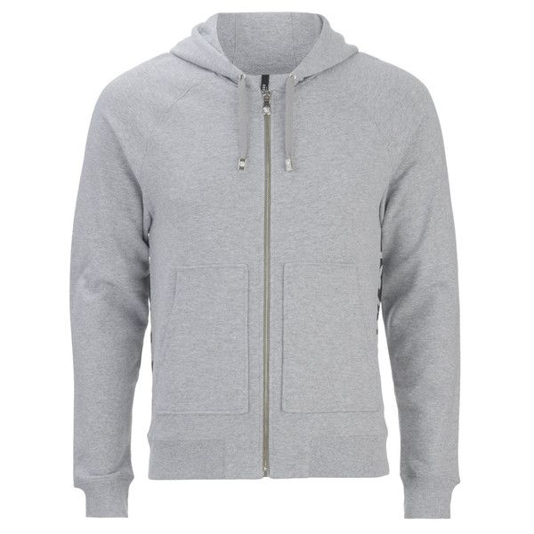 Versus Versace Men's Back Logo Zip Hoody - Grey ($275) ❤ liked on Polyvore featuring men's fashion, men's clothing, men's hoodies, grey, mens zipper hoodies, mens sweatshirts and hoodies, mens zip hoodie, mens hoodies and mens grey hoodie