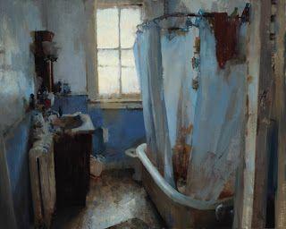 Study of a Bathroom; Daniel Robbins so inspired by his brushstrokes