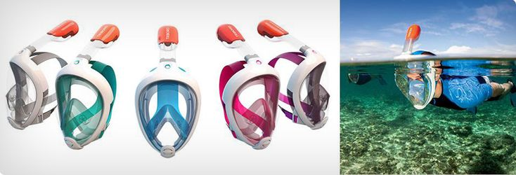Modern apparatus ~~~~ Tribord, Easy Breathing Snorkeling Mask https://www.pinterest.com/coolerthinking/gadget-trend-2015/