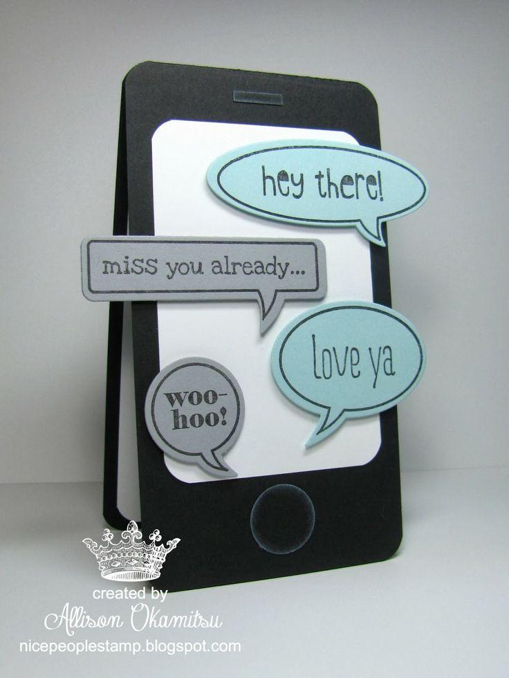 nice people STAMP!: Smart Phone Valentine, Word Bubbles Framelits, Just Sayin' Stamp Set, Punch Art - Stampin' Up! by Allison Okamitsu