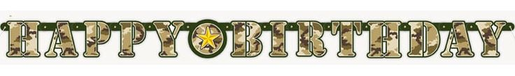 Camouflage Jointed Letter Banner – 160cm