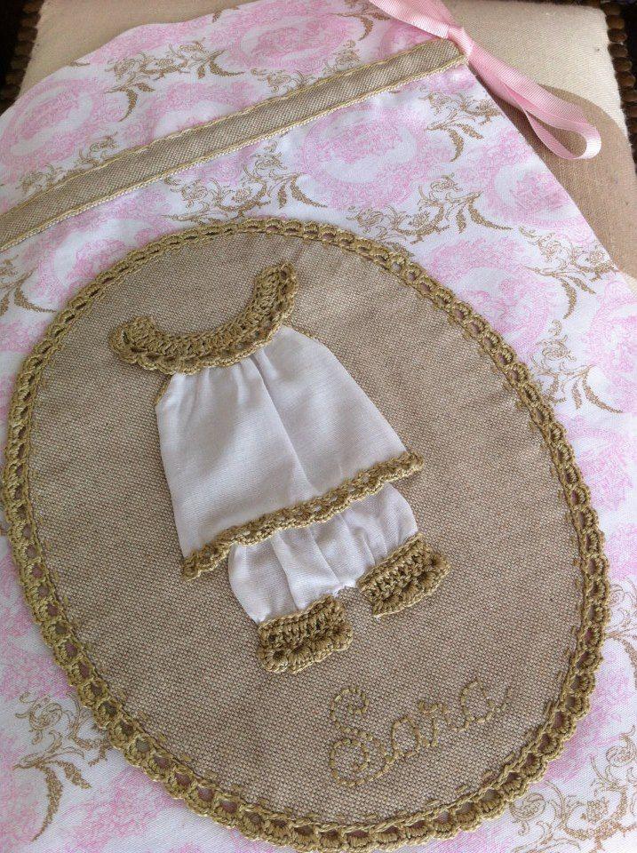 Crochet aplique Inspiracion ༺✿Teresa Restegui http://www.pinterest.com/teretegui/✿༻