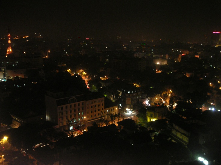 Hanoi: slightly blurry night sky.