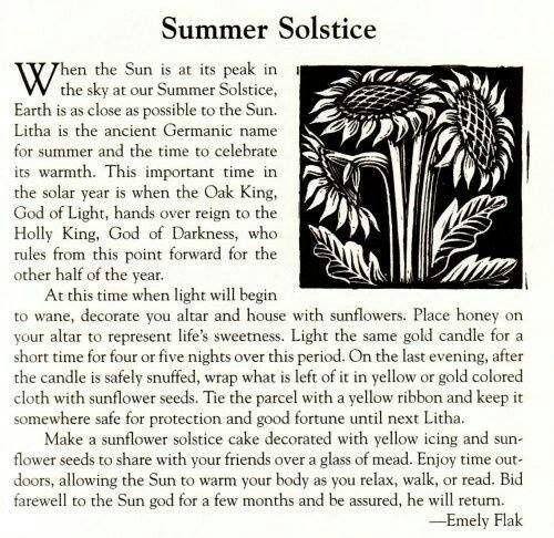 Saturday, June 21 is the Summer Solstace