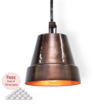 Height Of Designs Purple Pendant Lamp With Free Pack Of 15 Tea Lights
