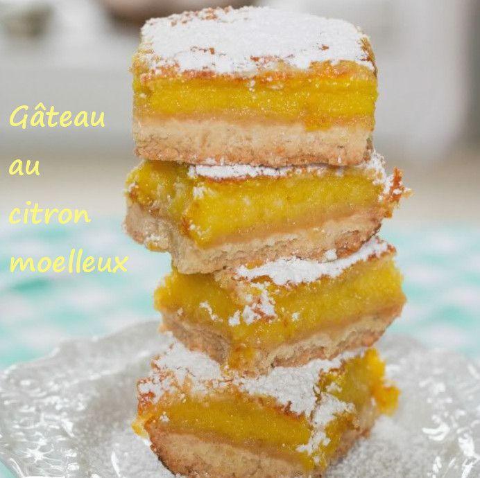 Recette gateau au citron moelleux : recette illustrée, simple et facile
