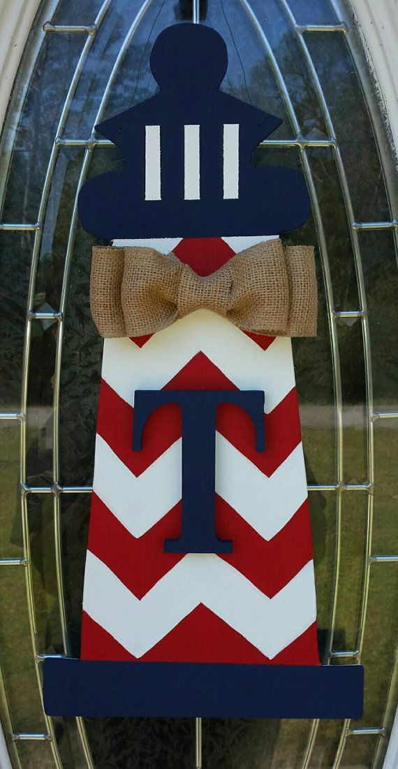 Personalized Lighthouse Door Hanger by OccasionsShop on Etsy
