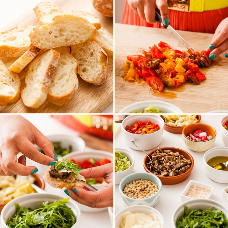 Hosting a party? DIY this bruschetta bar for your guests.