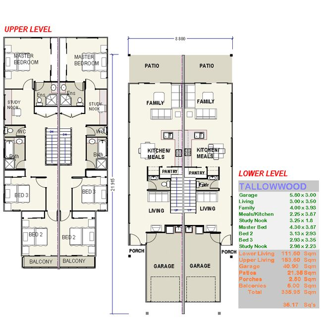 Tallowwood Duple House Plans FREE Custom House Plans Prices From Build