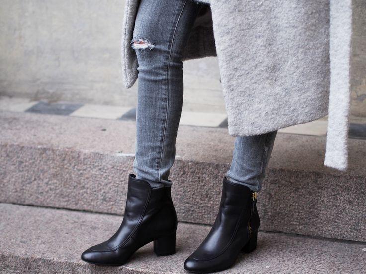 ALL IN GREY long grey coat