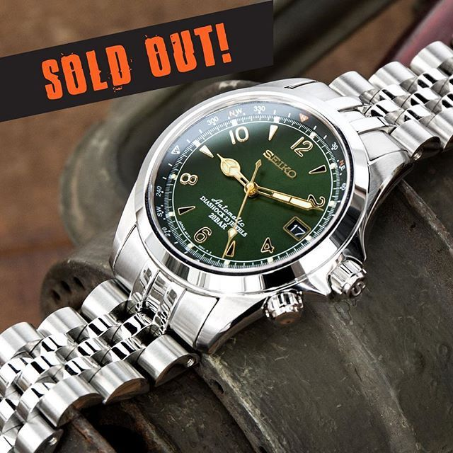With demand for our #MiLTAT  #AngusJubilee bracelets for Seiko Alpinist remaining high and limited quantities, we've fallen out of stock now and the pre-order are closed. Thanks for the awesome response everyone!