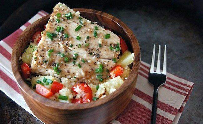 Daily Dinner Idea: Mahi Mahi with Pineapple-ShallotSauce