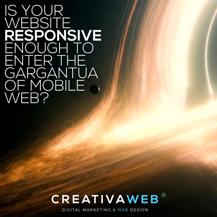 The super gigantic black hole of mobile web is in front of us. The new Google`s mobile friendly algorithm is shaking the world of internet these days and it is becoming a serious pain for some companies that haven't realized that mobile is here to stay. Check out this post here: http://www.creativaweb.co/is-your-website-responsive-enough-to-enter-the-gargantua-of-mobile-web/ #mobilefriendly #google #mobilemadness #Responsive #mobile #marketing #digital #graphic #design