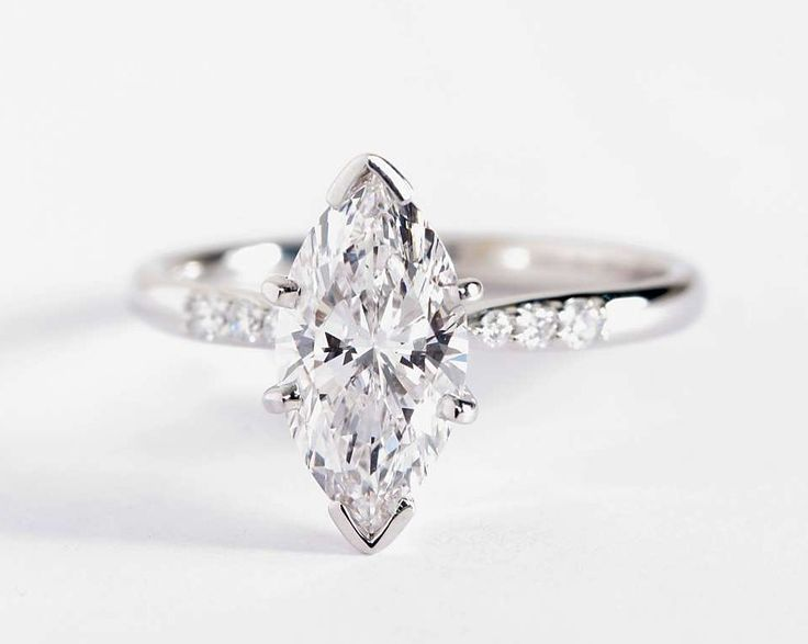 1.61 Carat Marquise Diamond in the Petite Diamond Engagement Ring available at Blue Nile