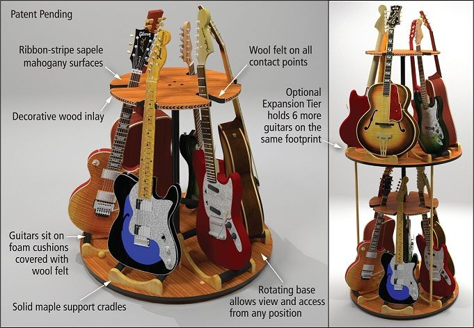 guitar room | The Carousel™ Deluxe features ribbon-stripe sapele mahogany and ...