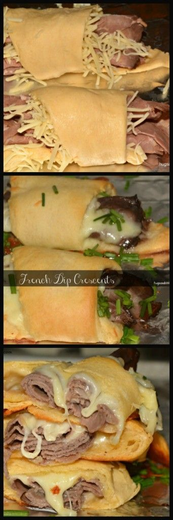 French Dip Crescent Rolls - Hugs and Cookies XOXO