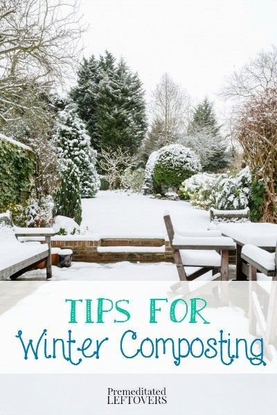 Winter composting tips - Cold weather composting is doable! Use these winter composting techniques sharing how to compost in the winter using a pile or bin.