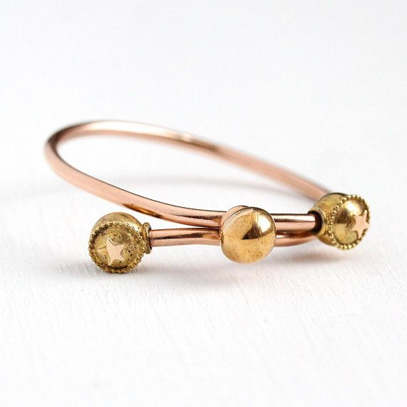Darling Antique Baby Bypass Bracelet This Sweet Little 10k Gold Filled Bracelet Has A Sleek And Stylish Modern Des Antique Bracelets Bangles Childrens Jewelry