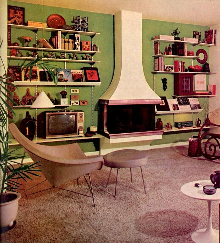 423 best retro home interior design images on pinterest for Modern retro interior