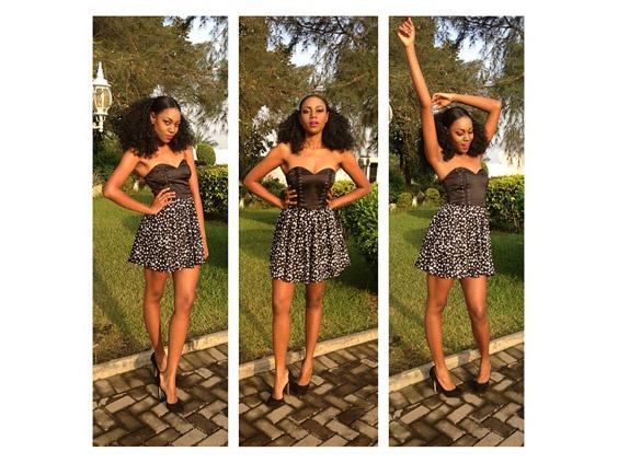 Ghanaian actress Yvonne Nelson in a stunning dress