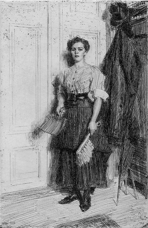 Anders Zorn - Swedish (1860 - 1920) - The New Maid Fine Art Print
