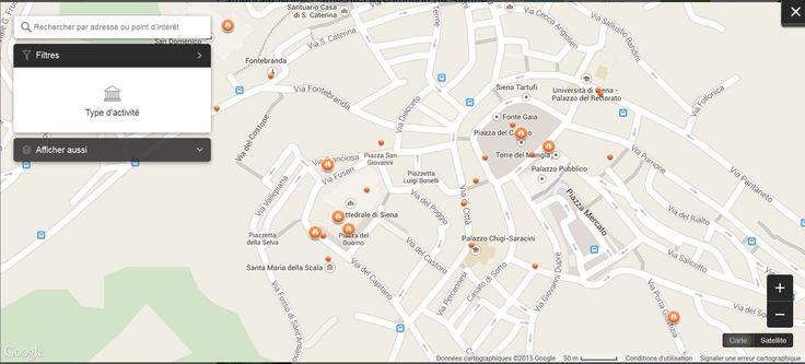 Plan des activités à Sienne
