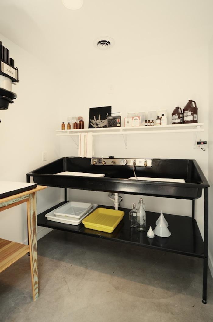 Darkroom photography studio chic cute stylish in Austin house by Kartwheel