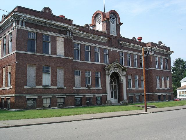 Abandoned School  The abandoned Nelsonville High School in Nelsonville, Ohio.