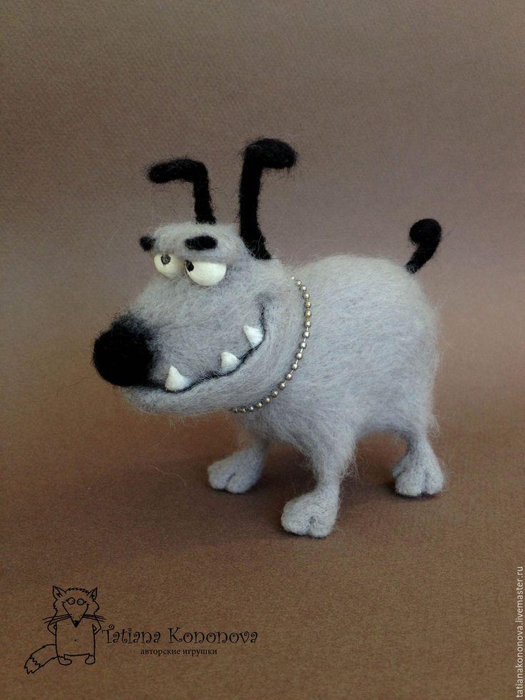 Купить Осторожно, злая, но очень симпатичная собака ! - серый, собака, собачка, песик, щенок