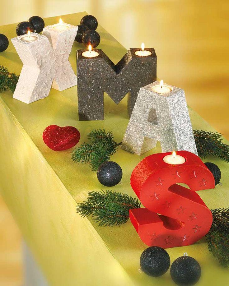 X-Mas PappArt-Kerzenhalter - Weihnachten - Lichter und Kerzen