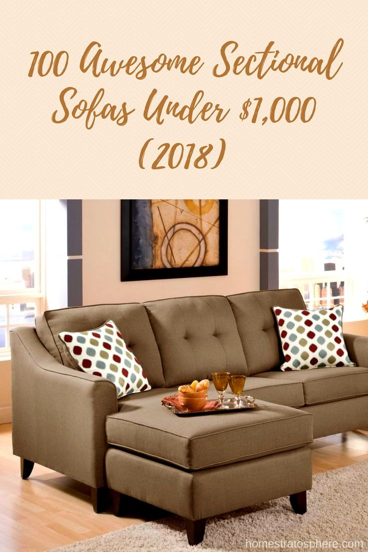 100 Awesome Sectional Sofas Under 1 000 2020 Sectional Sofa Sectional Brown Sectional Sofa