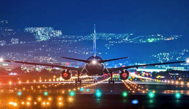 Good Night! All Nippon Airways - ANA Boeing 777 at Osaka - Itami International airport