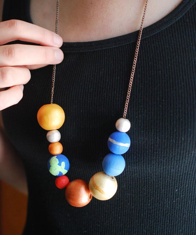 Make a Stellar Solar System Necklace // wild olive for handmade charlotte