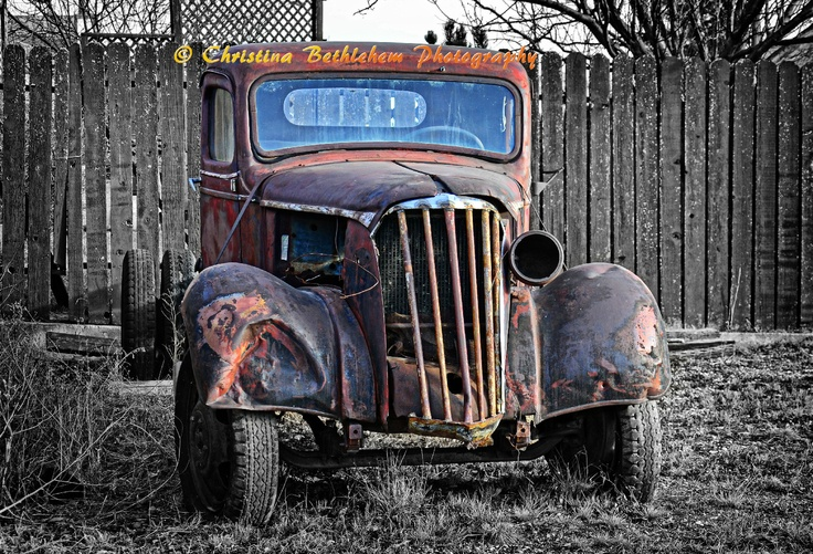 A fabulous old truck just a block away from my home in Carseland, AB (near Strathmore & Calgary,AB)