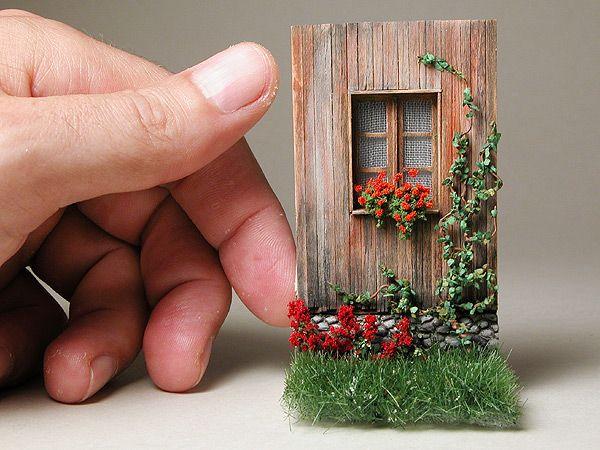 Morre fertige Miniatur - Modell einer Holzwand