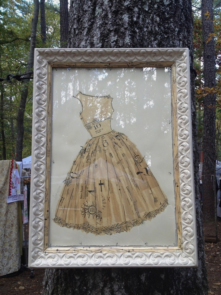 Vintage Vogue dress pattern art. Country Living Fair via VREELAND ROAD