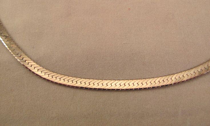 In the '80s, everyone wore gold herringbone chains.