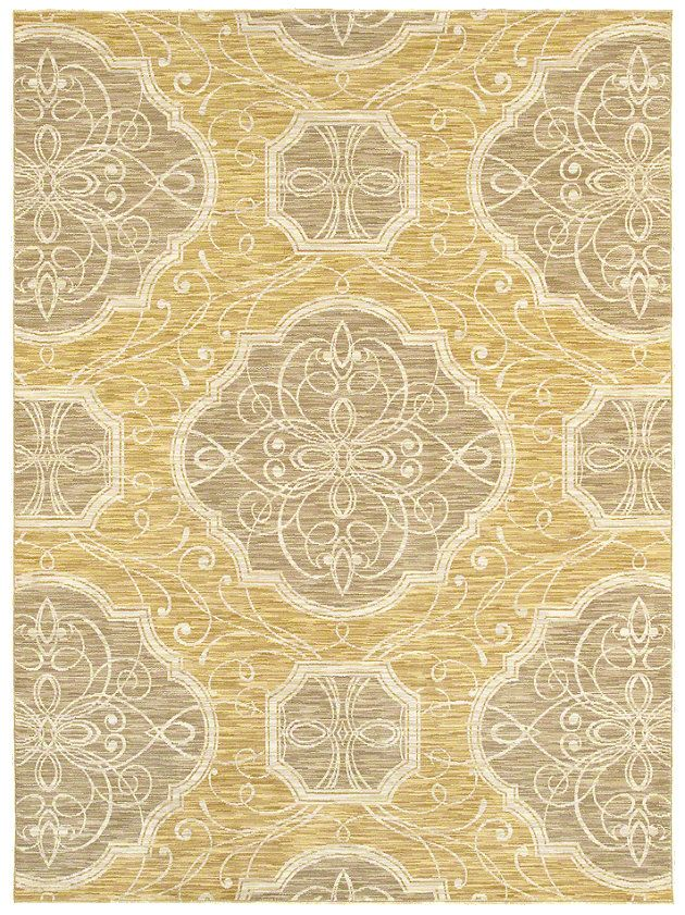 """Area Rug in style """"Edendale"""" color Gold - by Shaw Floors"""