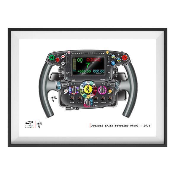 Ferrari Steering Wheel F1 Art Print In 2020 Ferrari Steering Wheel Ferrari F1