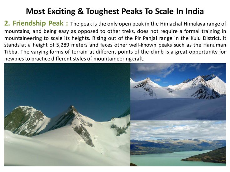 Friendship Peak at a height of 5,289 meters >> http://www.365hops.com/blog/most-exciting-toughest-peaks-to-scale-in-india/  #365Hops, #Peaks, #India #Trelling #Treks #FriendshipPeak #Himalaya