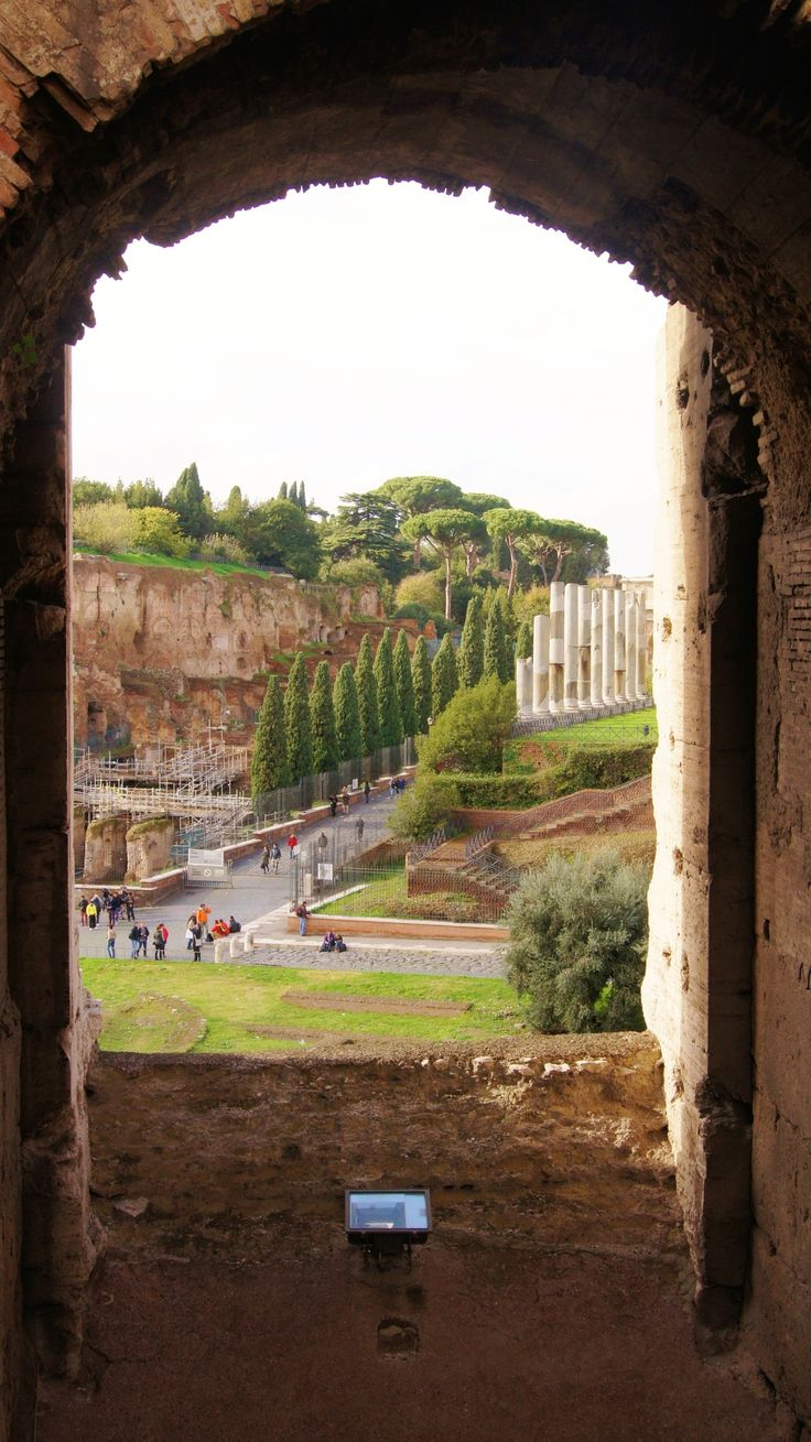 "View of the Roman Forum from the Colosseum, Rome, Italy The art of view — ""View from the window Coliseum""."