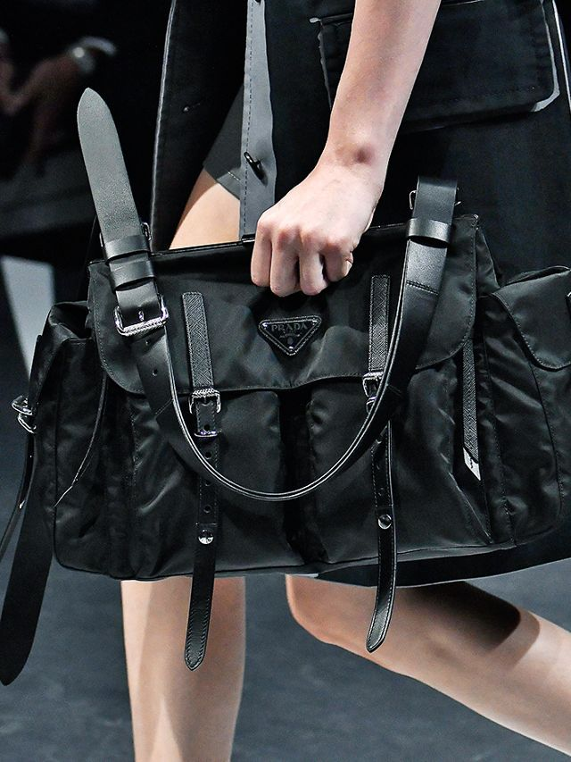 7885174a6b7f9b The Prada nylon bag is trending and it is actually an affordable look to  try.