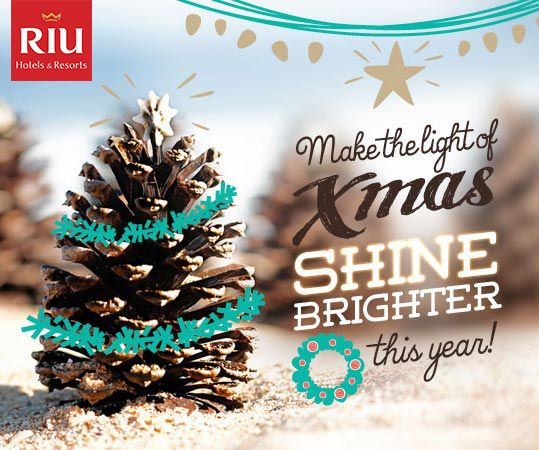 Pin it to Win it! This Christmas, RIU makes your wishes come true! Follow us and pin this image and Win a 5-night stay for 2 people at your favorite RIU hotel.