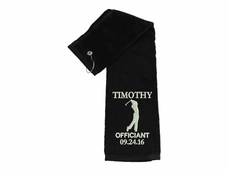 Custom officiant golf towel golf towels father of the