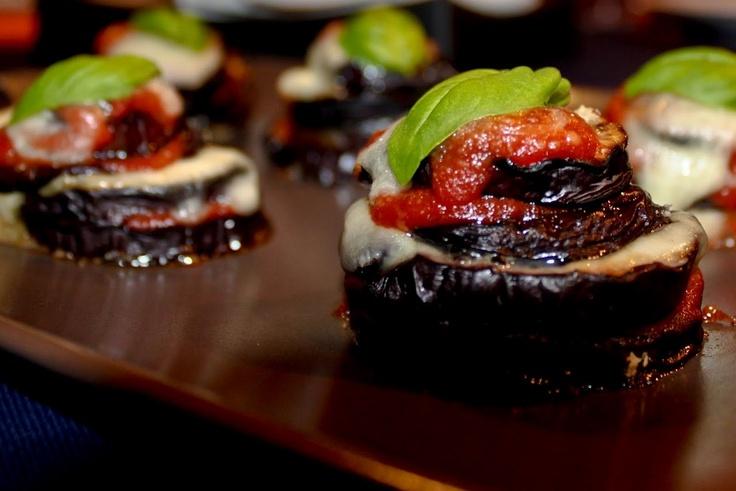 """Eggplant Italian """"Parmigiana""""... finger food style!"""