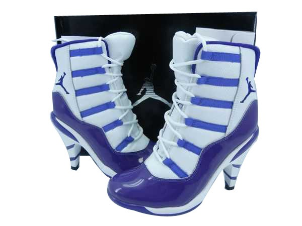 Air Jordan High Heels All White Womens Basketball Shoes