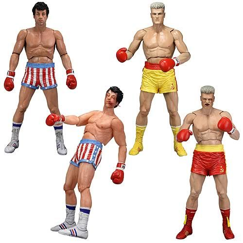 Stallone and Lundgren figures? Yes please!! Rocky Series 2 Action Figure Set of 4