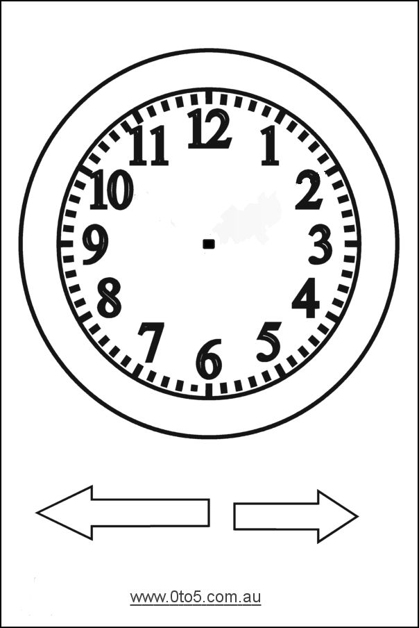 Free printable clock patterns printable analogue clocks for Printable clock hands template